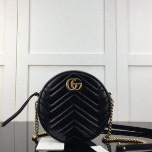 GUCCI GG Marmont mini round shoulder bagshasye